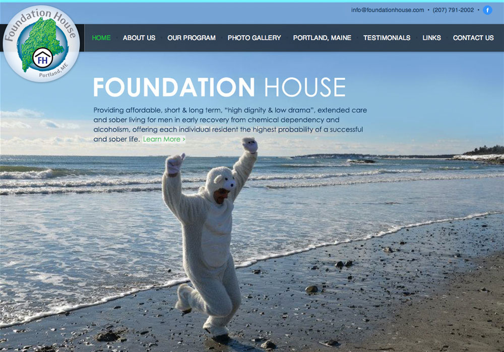 Foundation House: A Maine Website Design by SlickFish Studios