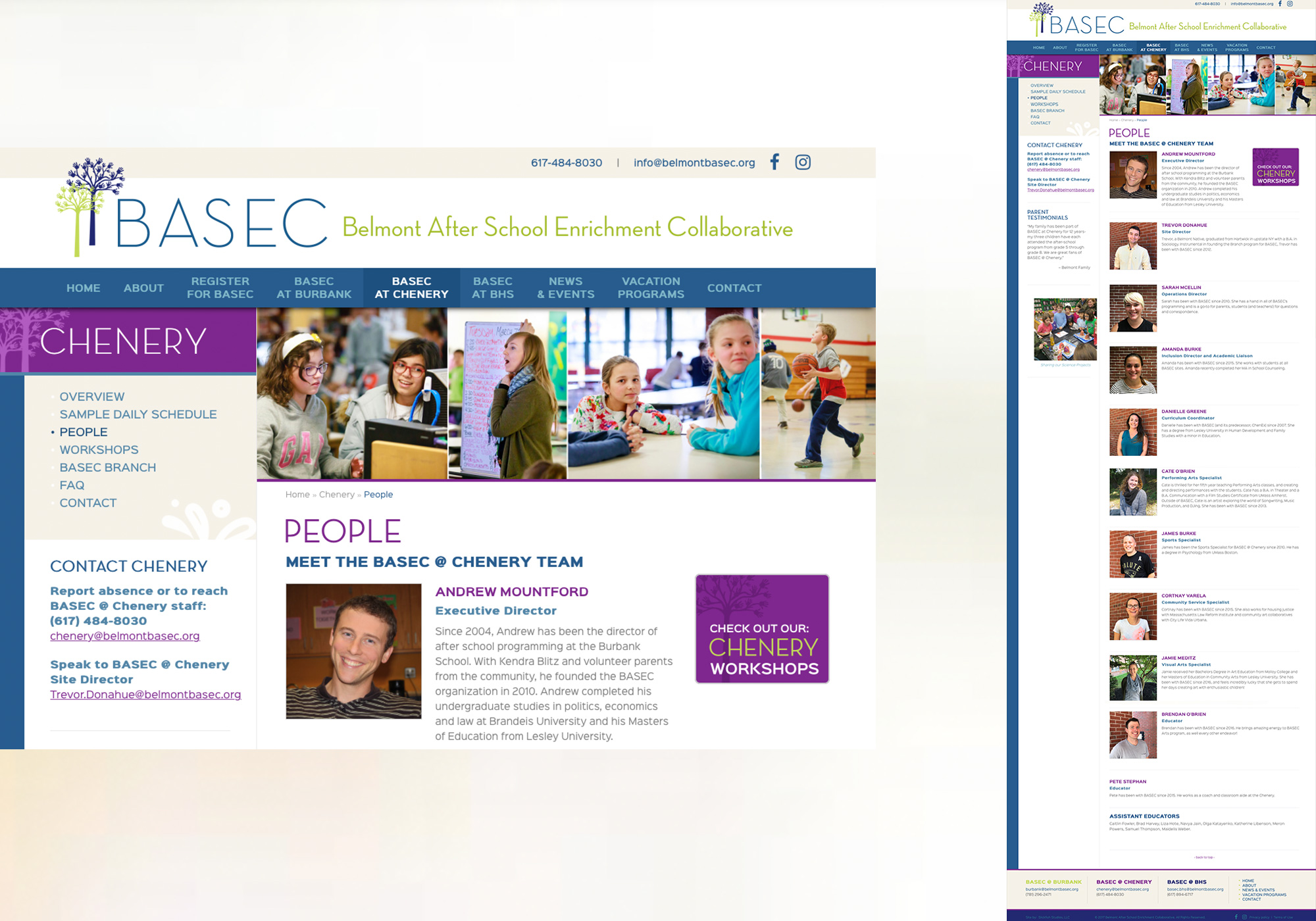 Maine web design company, SlickFish Studios built a pretty fun website for large, and continuing to grow Belmont BASEC. See all of the great people who work at the Massachusetts based collaborative.
