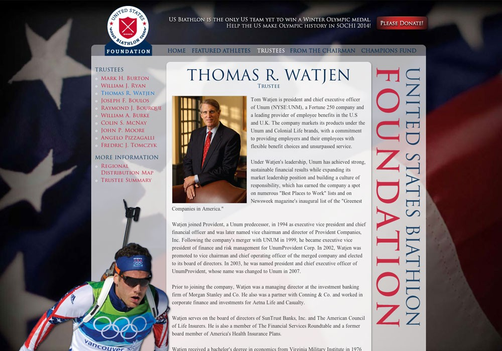 United States Biathlon Foundation: A Maine Website Design by SlickFish Studios