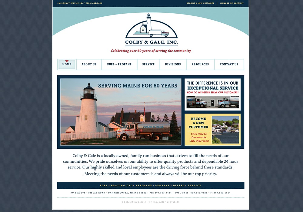 Colby & Gale: A Maine Website Design by SlickFish Studios