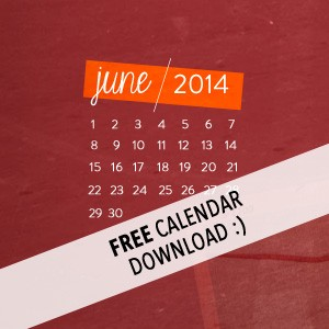 June 2014 desktop calendars