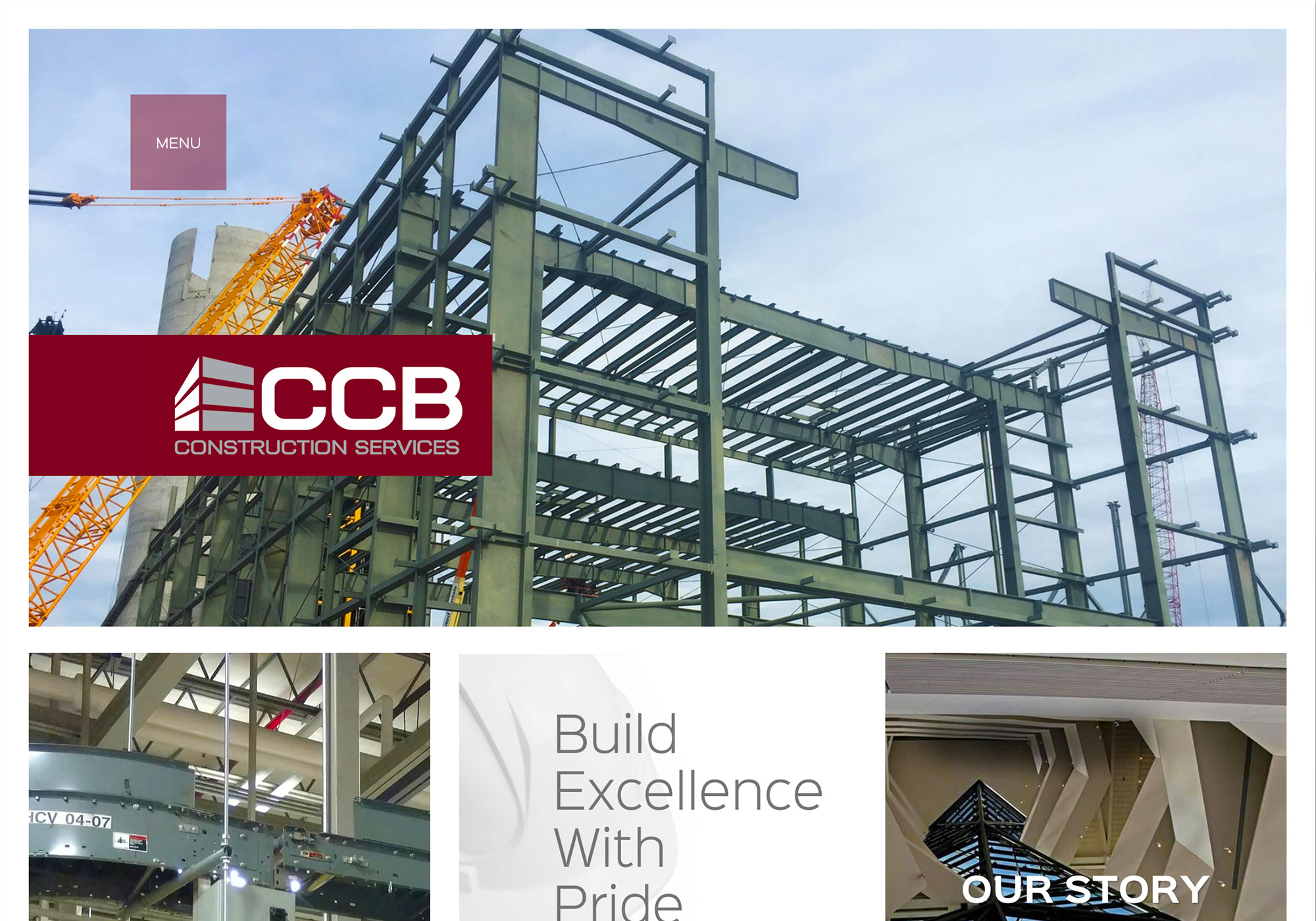 A screenshot of the SlickFish Studios designed and developed website for CCB Construction Services Inc.