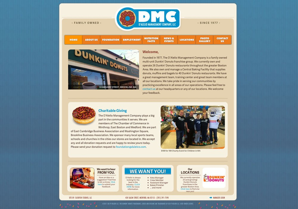 D'Alelio Management Company: A Maine Website Design by SlickFish Studios