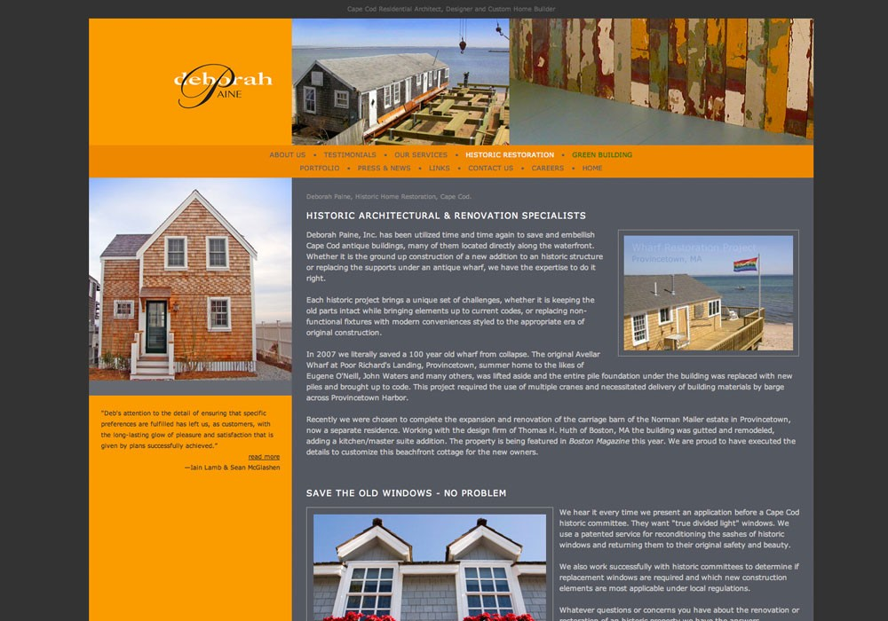 Deborah Paine: A Maine Website Design by SlickFish Studios