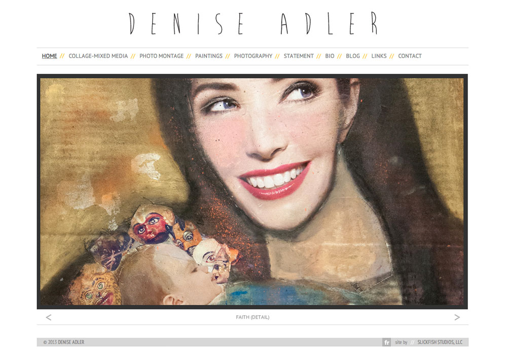 Denise Adler: A Maine Website Design by SlickFish Studios