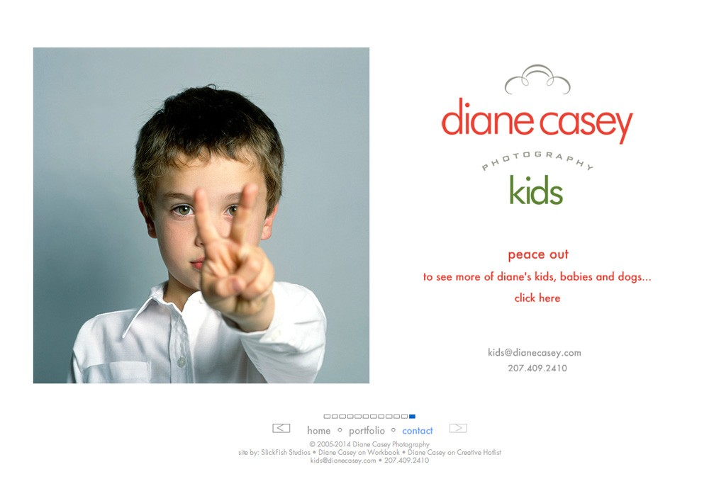 Diane Casey Photography: A Maine Website Design by SlickFish Studios