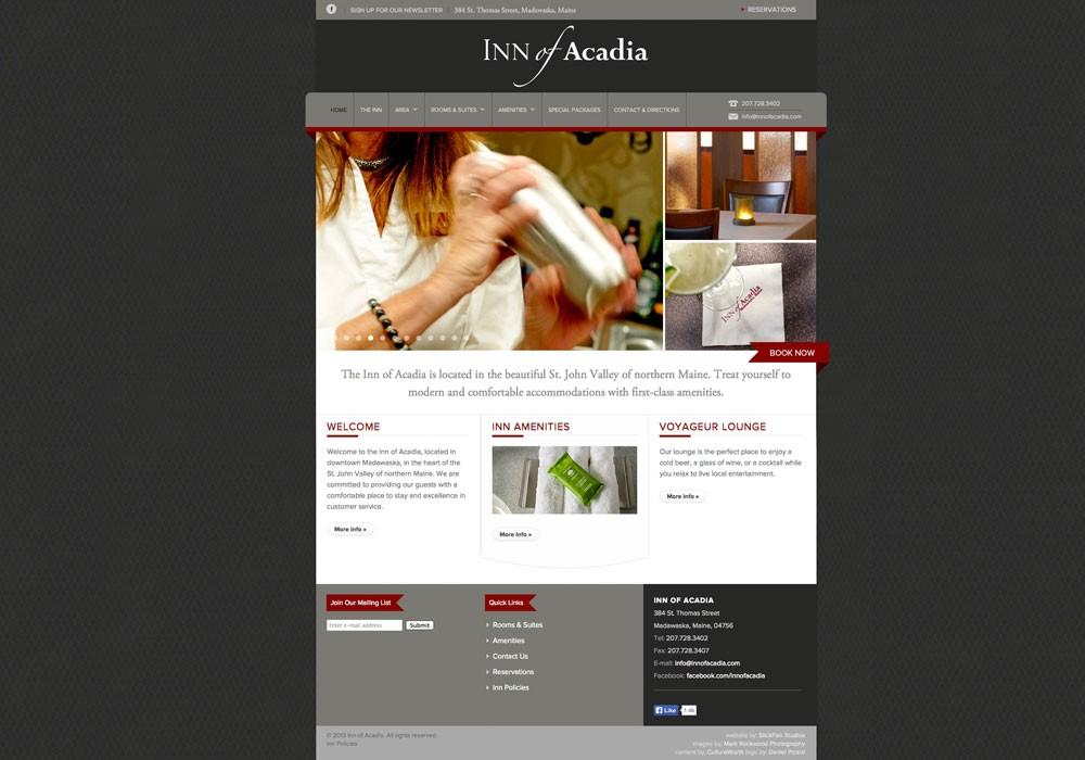 Inn of Acadia: A Maine Website Design by SlickFish Studios