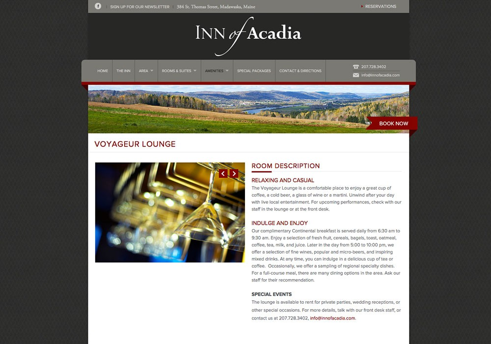 Inn of Acadia: A Maine Website Design by SlickFish Studios