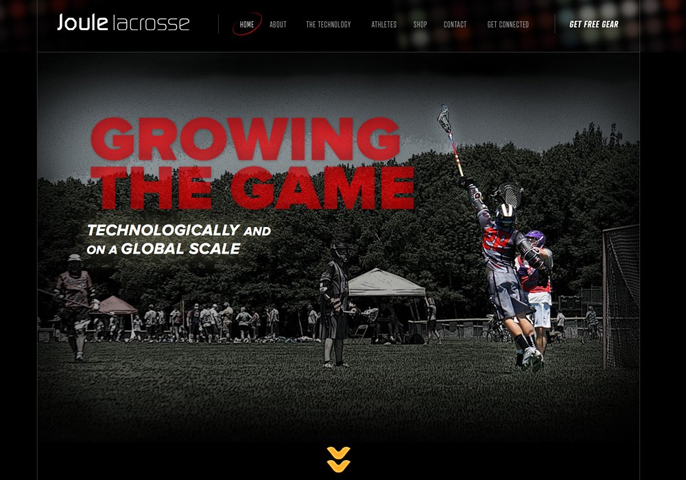 Joule Lacrosse: A cutting edge lacrosse shaft company website by SlickFish Studios