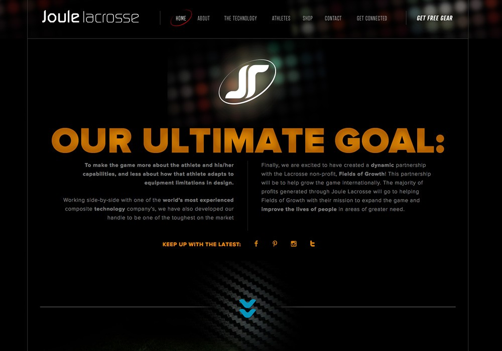 A creative website design for lacrosse company by SlickFish