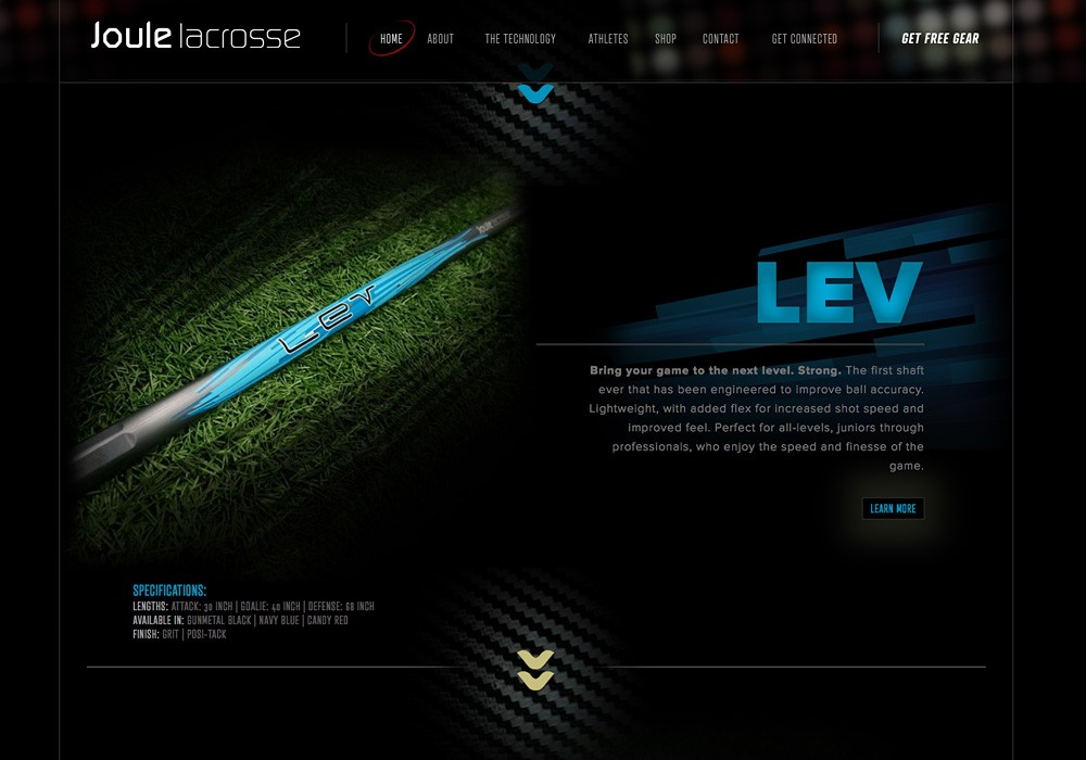 Joule Lacrosse: A Maine Website Design by SlickFish Studios