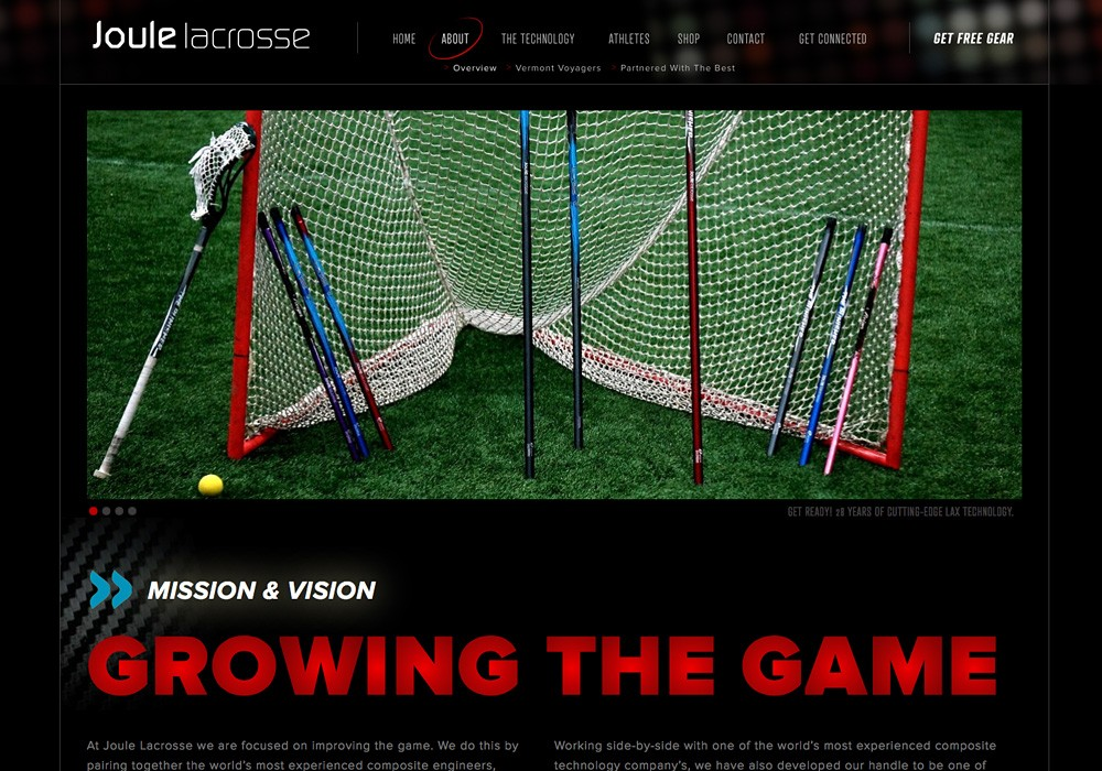 Joule Lacrosse: by Maine website design company