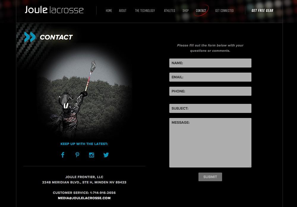 SlickFish designs lacrosse websites