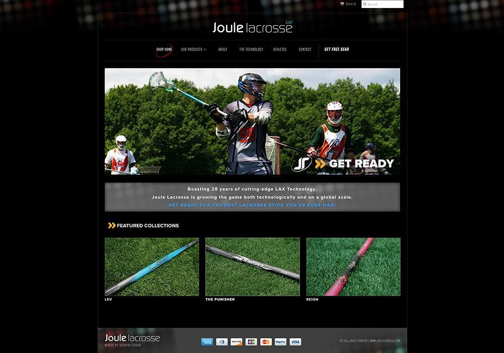 Joule Lacrosse Online Store: A Maine Website Design by SlickFish Studios