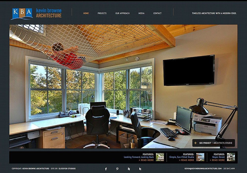 Kevin Browne Architecture: A Maine Website Design by SlickFish Studios