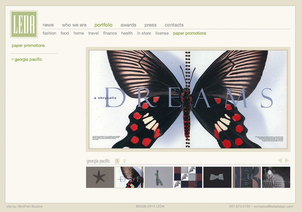 Leslie Evans Design Associates: A Maine Website Design by SlickFish Studios