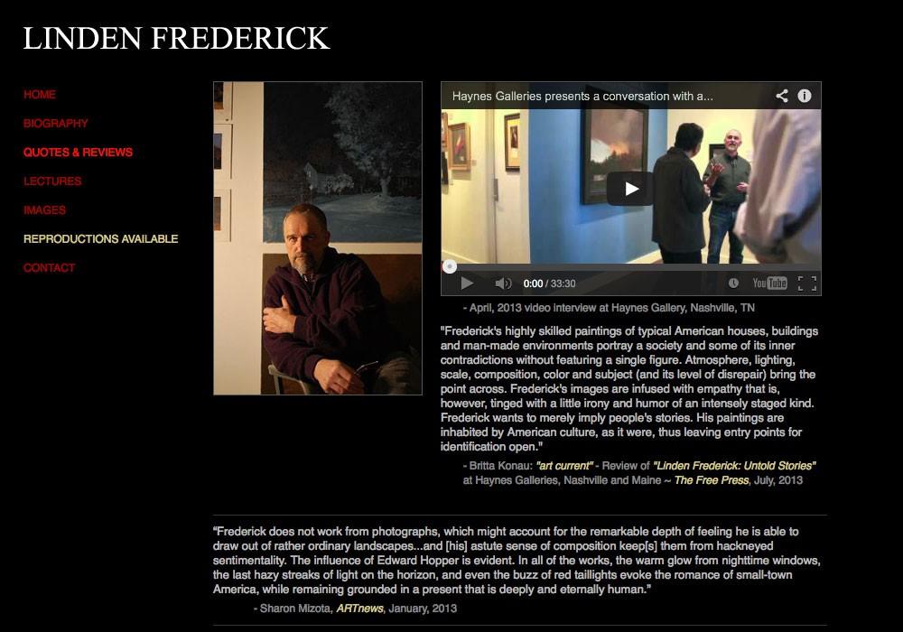 Linden Frederick: A Maine Website Design by SlickFish Studios