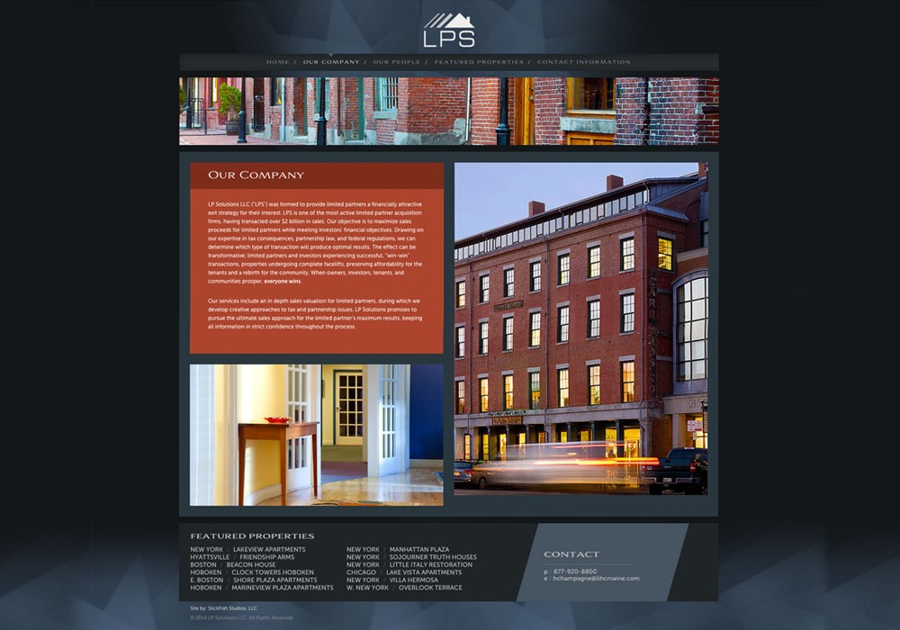 LP Solutions, LLC: A Maine Website Design by SlickFish Studios