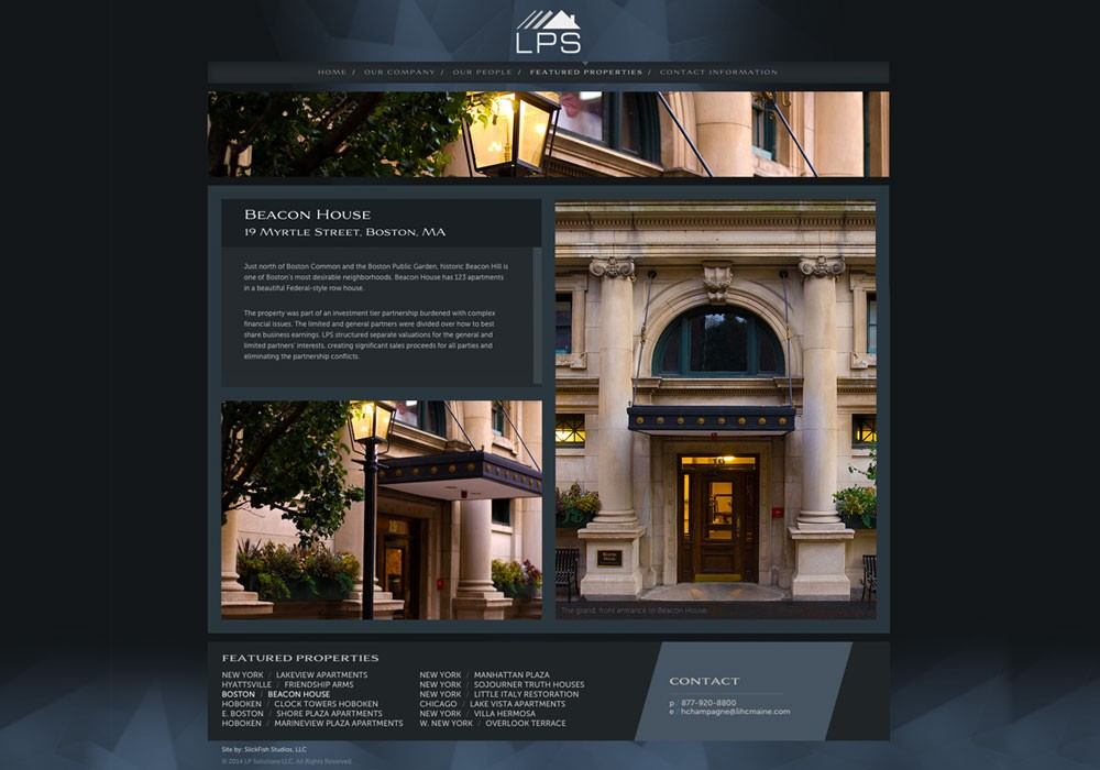 LP Solutions, LLC: A Maine Website Design by SlickFish Studios