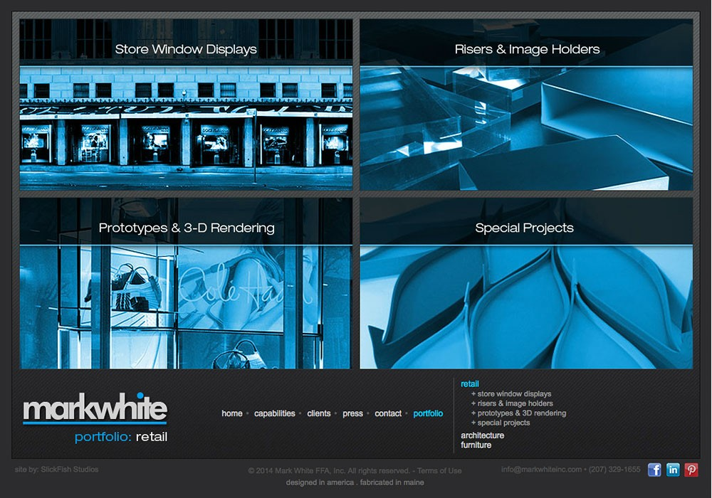 Mark White, Inc: A Maine Website Design by SlickFish Studios