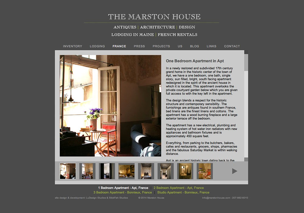 Marston House: A Maine Website Design by SlickFish Studios