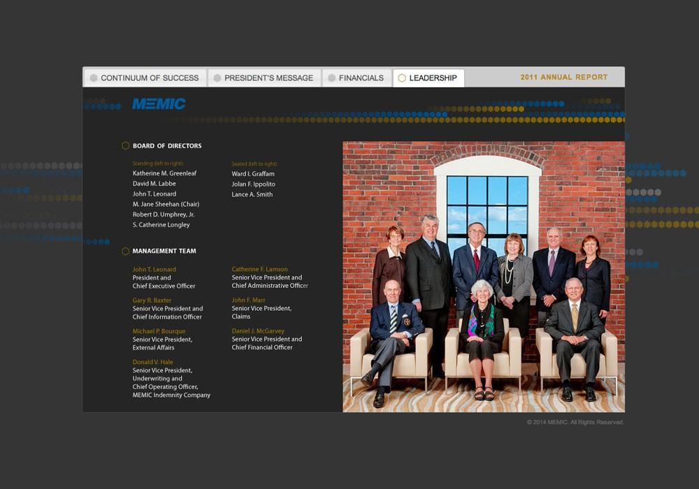 Memic 2011 Annual Report: A Maine Website Design by SlickFish Studios