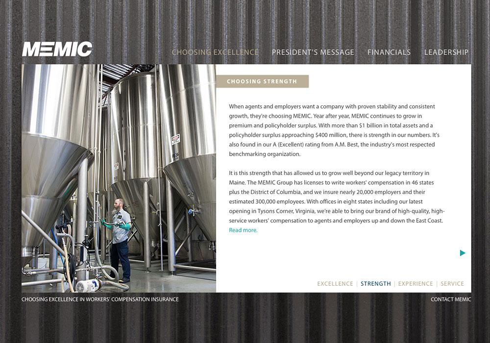 MEMIC Annual Report 2013: An interactive Website by SlickFish Studios