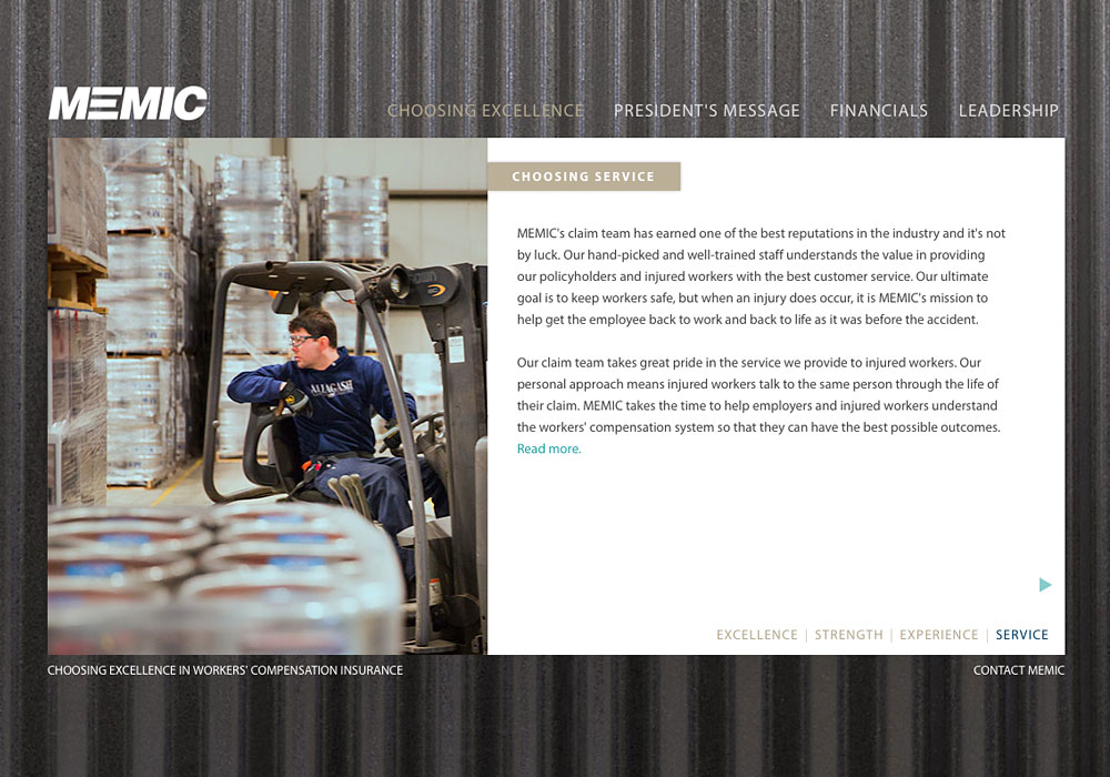 The 3rd annual report SlickFish created for MEMIC