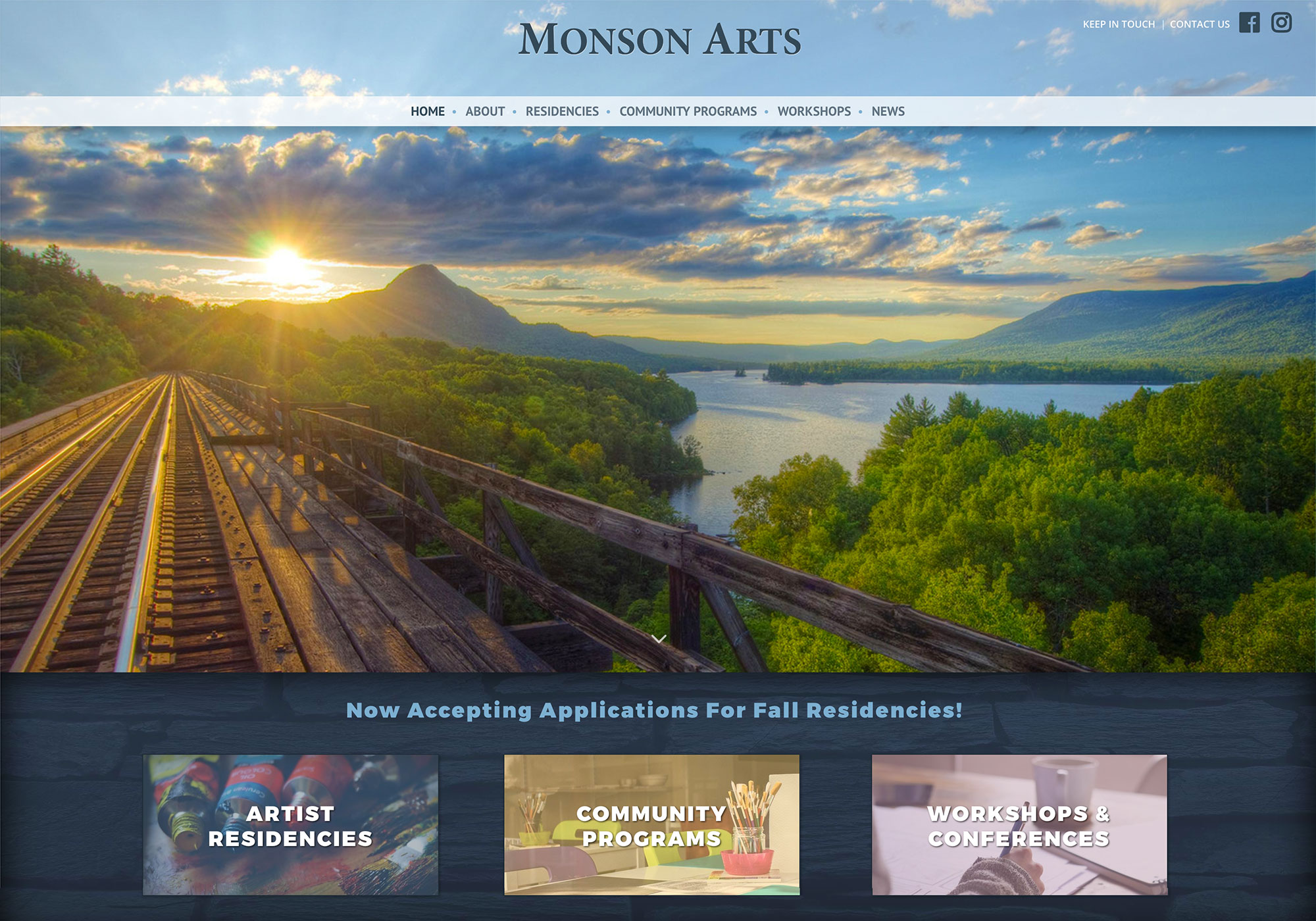 Monson Arts Website by SlickFish Studios