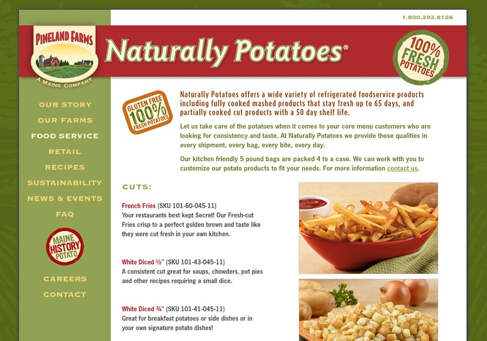 Naturally Potatoes: A Maine Website Design by SlickFish Studios