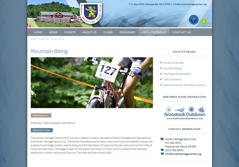 Nordic Heritage: A Maine Website Design by SlickFish Studios
