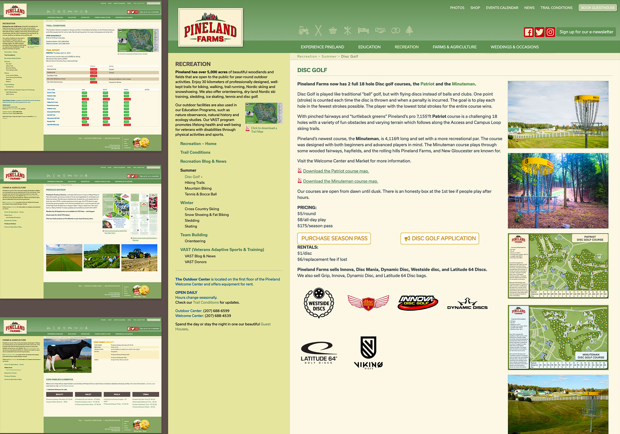 A creative Maine Website Design for a farm in New Gloucester