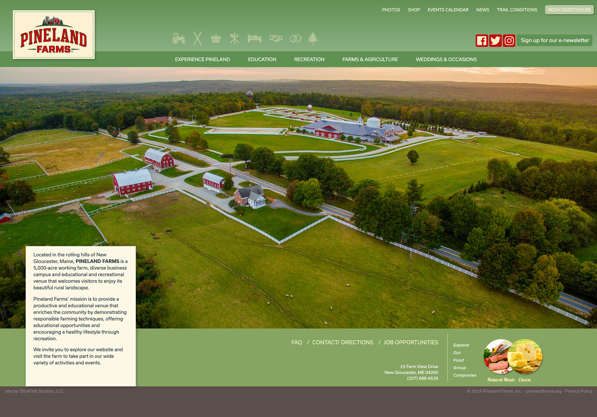 Pineland Farms Website by SlickFish Studios