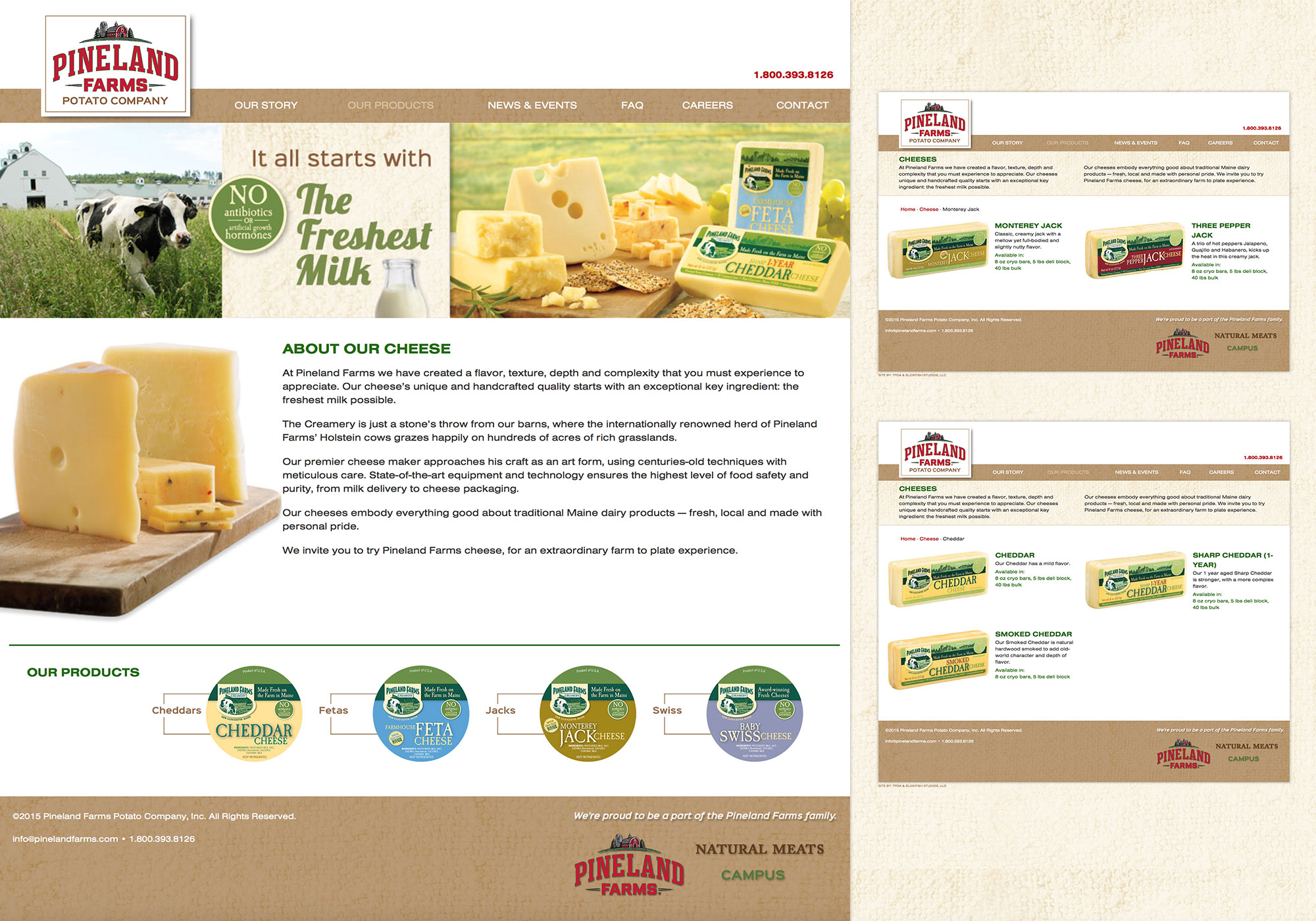 A new, custom, responsive website for the Pineland Potato Company, in Mars Hill, Maine by creative website design company SlickFish Studios, in the Old Port of Portland, Maine.
