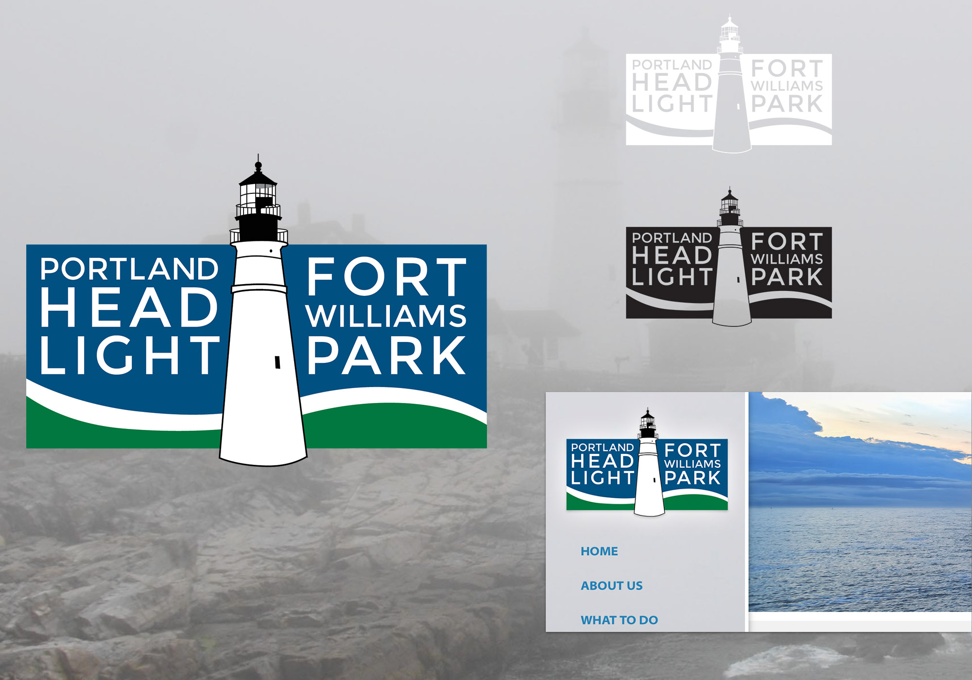 SlickFish designed a new logo for the oldest lighthouse in Maine, The Portland Head Light and the adjacent Fort Williams Park.