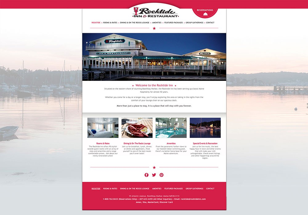 The Rocktide Inn: A Maine Website Design by SlickFish Studios