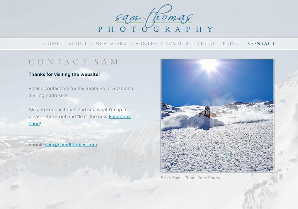 Sam Thomas Photography: A Maine Website Design by SlickFish Studios