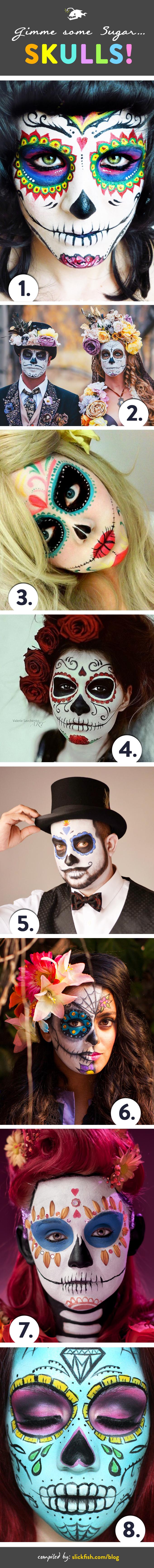 SlickFish's favorite Sugar Skull Designs