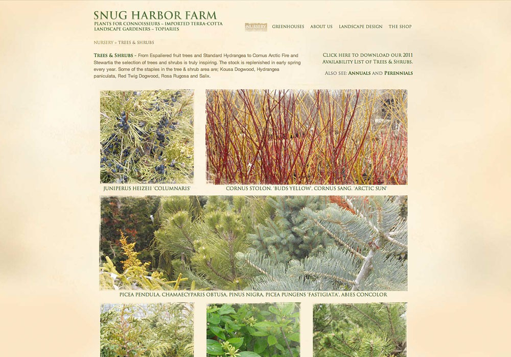 Snug Harbor Farm: A Maine Website Design by SlickFish Studios