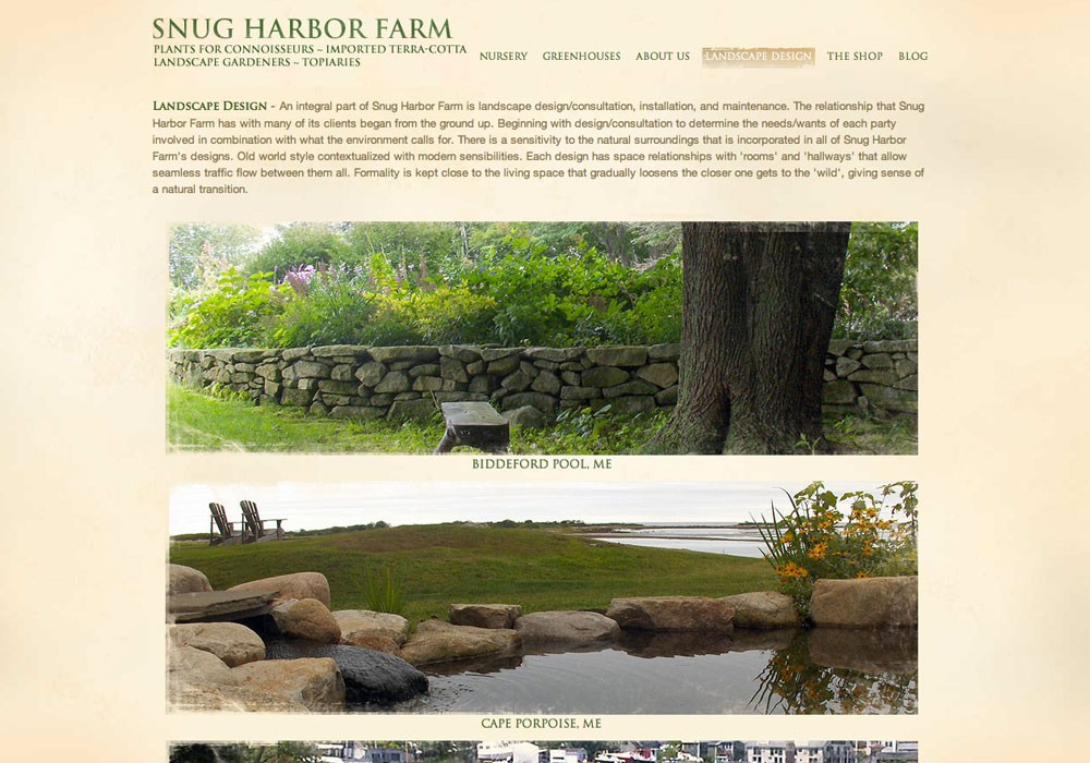 Snug Harbor: A Maine Website Design by SlickFish Studios