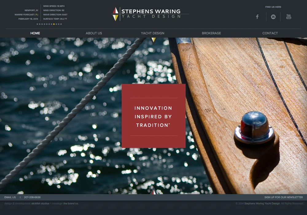 Stephens Waring Yacht Design: A Maine Website Design by SlickFish Studios