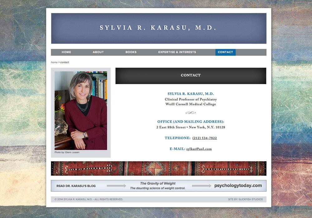 Sylvia Karasu, M.D.: A Maine Website Design by SlickFish Studios