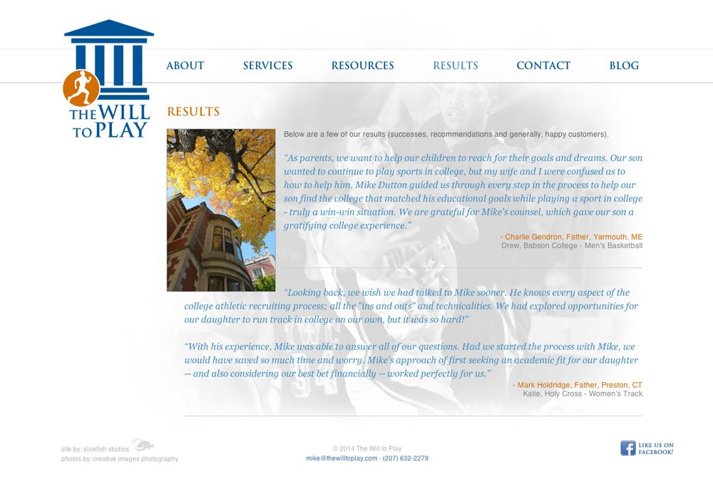 The Will to Play: A Maine Website Design by SlickFish Studios