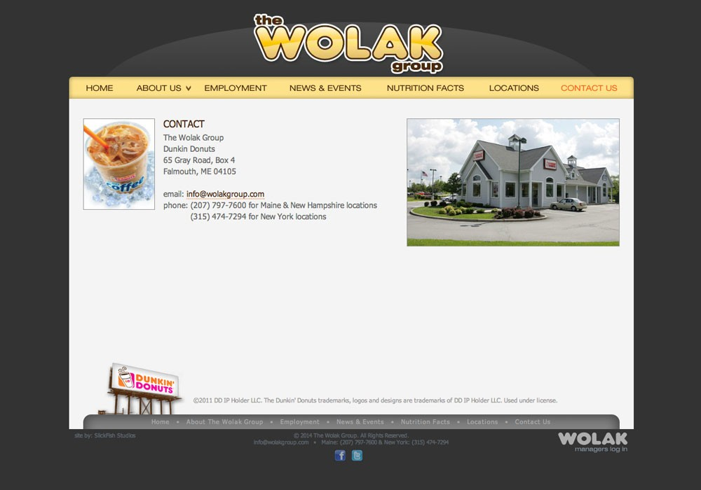 The Wolak Group: A Maine Website Design by SlickFish Studios